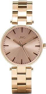 JAG Women's J1923A Year-Round Analog Quartz Rose Gold Watch