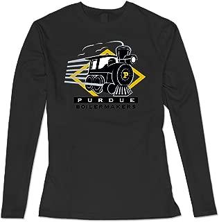 AuSin Women's Purdue University Casual Long Sleeve T Shirt Black