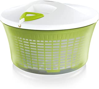 Leifheit Essoreuse à salade en plastique ComfortLine, mécanisme d'essorage à cordon innovant, utilisable comme saladier ou...