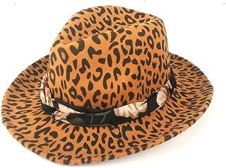 Fedora Cap Autumn Winter Sun Hat Ladies Men Fedora Hat Wool Polyester Wide-Brimmed Felt Floppy Cloche Hat Ribbon Felt hat (Color : Yellow, Size : 56-58cm)