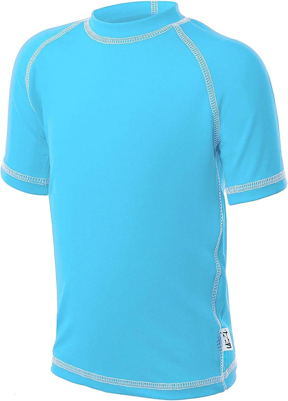 New products world's New life highest quality popular UZZI Kids UPF 50+ Loose Cut Short Swim Sleeve Rashguard T-Shirt