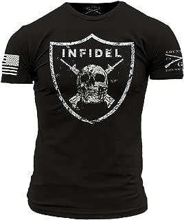 Skull and Crossed Rifles on Shield Men's T-Shirt
