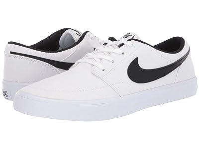 Nike SB Portmore II Solar Canvas (White/Black/White) Men