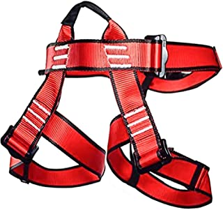 NewDoar Climbing Harness,Professional Mountaineering Rock Climbing Harness, Half Body Harness for Rappelling Fire Rescuing Tree Climbing Gear