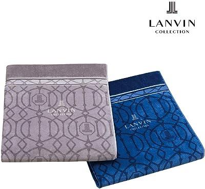 昭和西川 タオルケット ネイビー シングル 140×200㎝ LANVIN コレクション 両面 シャーリング タオルケット パッセ 2230383515312