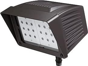 Atlas Lighting PFM43LED Knuckle Mount LED Flood Light 43 Watt 120 - 277 Volt Epoxy Guard Black Power Flood Pro