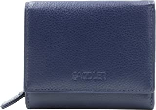 SADDLER Womens Luxurious Real Leather Trifold Credit Card Wallet With Large Zippered Coin Pocket | Designer Ladies Purse -...