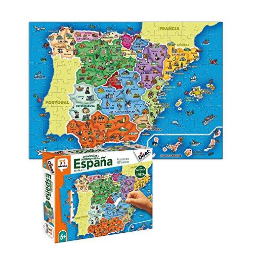 Diset- Puzzle Provincias-Autonomías137p Juguete educativos