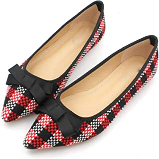 August Jim Womens Wide Width Flat Shoes Square Toe Ballet Comfort Slip on Flats Shoes