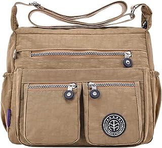 Wultia - Bags for Women 2019 Women's Fashion Solid Color Water Repellent Nylon Shoulder Bag Crossbody Bag Bolsa Feminina Khaki