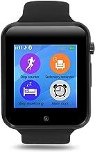 YOKEYS Bluetooth Smart Watch with Touchscreen Camera,Unlocked Watch Cell Phone with Sim Card Slot,Smart Wrist Watch,Smartwatch Phone for Android Samsung iOS iPhone X 7 8 6S Men Women Kids (New Black)