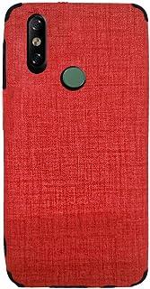 لهاتف انفينكس سمارت 4 x653 جراب خلفي جينز سليكون - احمر