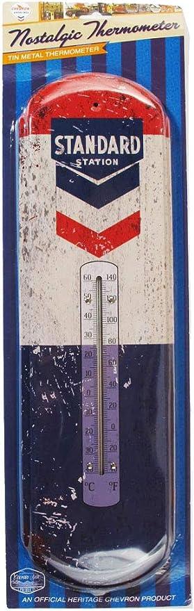 new TEXACO GAS Indoor Outdoor metal Thermometer