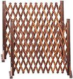 ybaymy 庭 フェンス 2個入 ガーデンフェンス 木製柵 伸縮 折りたたみ式 ラティス アコーディオン カーゲート 柵 門扉 160cmまで拡張可能