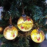 LbojailiAi Árbol De Navidad Decoración De Adornos Colgantes Bolas De Bolas De Plástico Transparente Luz LED amarilloNone