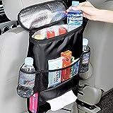 Organizer con Multi Tasche per sedile posteriore auto, supporto per bottiglie con mantenimento del calore o del fresco, leggero, isolamento termico