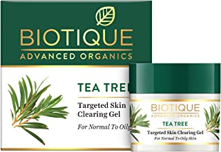 Biotique Tea Tree Targeted Skin Clearing Gel for Normal to Oily Skin, 15g
