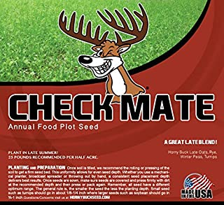 Horny Buck Food Plot Seed - Check Mate Blend Mix | 25 Pound Bag