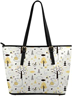 InterestPrint Top Handle Satchel HandBags Shoulder Bags Tote Bags Purse Honey Bear Pattern