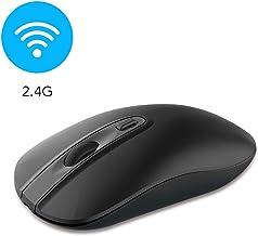 cimetech Wireless Computer Mouse, Slim Cordless Mouse for Laptop Ergonomic Optical with Nano Receiver USB Mouse for Laptop, Deskbtop, MacBook (Bat Black)