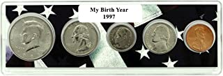 1997-5 Coin Birth Year Set in American Flag Holder Uncirculated