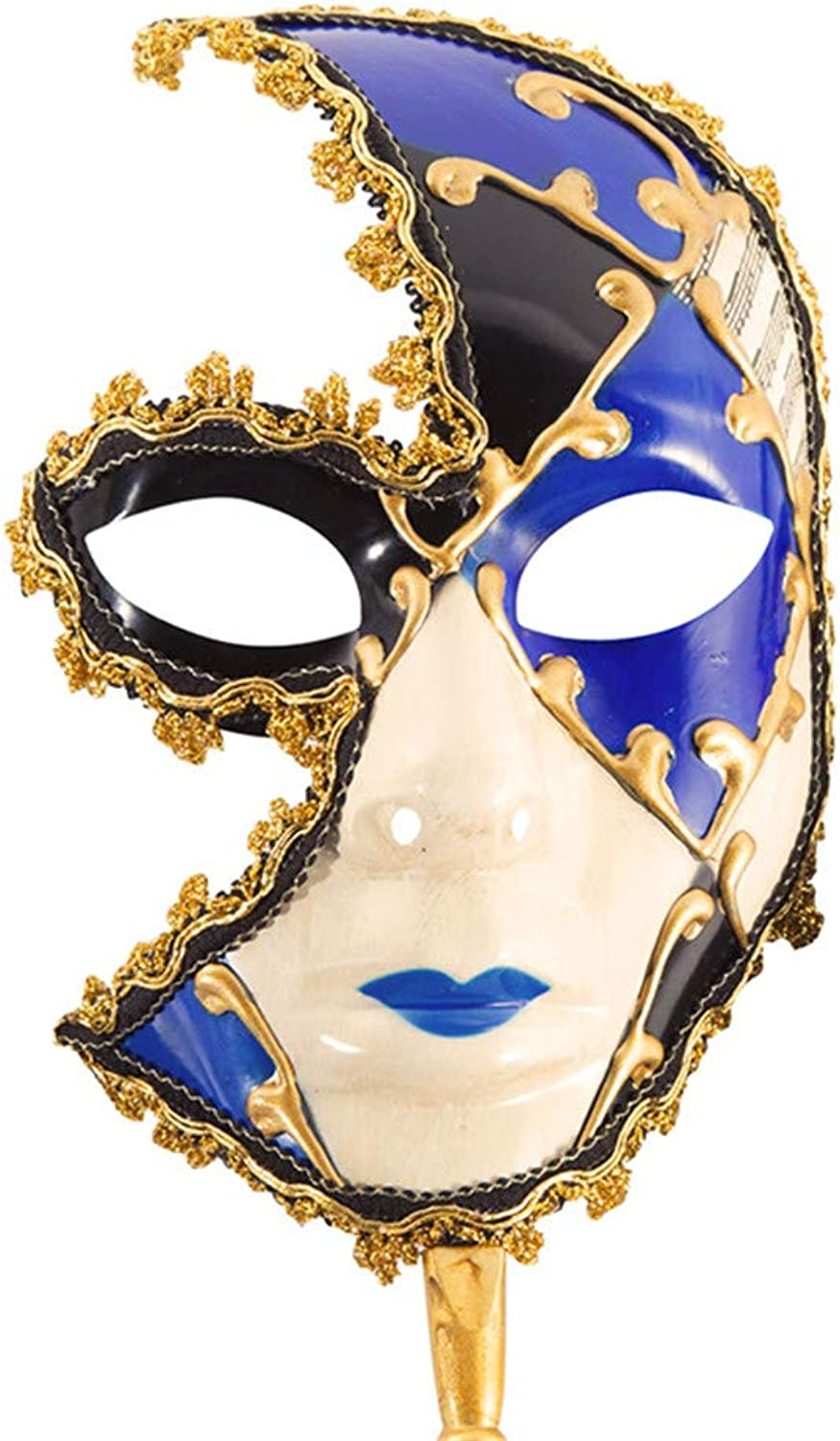 Half Face Mask Halloween Upscale Dress Party Party Mask Party Party Performance Mask,bluee