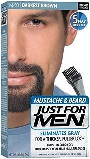 JUST FOR MEN Color Gel Mustache & Beard, M-50 Darkest Brown 1 ea (Pack of 4)