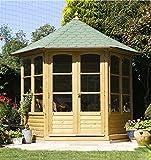 Jardín Verde - Quiosco Cenador Hexagonal 'Harrogate' de madera