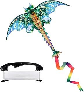 Milky House Dragon Kite,Beach Kites for Kids or Adult,Outdoor/Trip Fun Sports Dinosaur Kite Easy to Fly