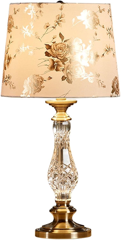 American Crystal Tischlampe Schlafzimmer Nachttisch Lampe Kreative Mode Mode Mode Wohnzimmer Dekorative Tischlampe (Farbe   Knopfschalter) B06XT3LV5L     | Mode-Muster  20319e