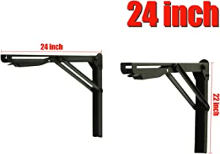 Ultrawall Shelf Brackets, Heavy Duty Adjustable Folding Shelf Workbench Supports,24 inch Foldable Bracket