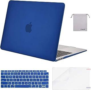جراب Mosiso MacBook Air مقاس 13 بوصة إصدار 2018 A1932 بشاشة شبكية، وغطاء بلاستيكي صلب ولوحة مفاتيح وواقي شاشة وحقيبة تخزين...