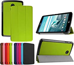 Ultra Thin Slim Folio Stand Sleep/Wake Up Leather Case Smart Cover for LG G Pad F 8.0 Tablet [AT&T 4G LTE Model V495 and T-Mobile 4G LTE Model V496, 2015 Version] (1-Green)