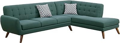Amazon.com: ACME Furniture Sofa, Light Gray Linen: Kitchen ...