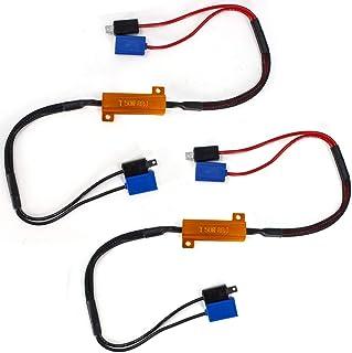 Biqing 2 szt. dekoder rezystory LED H1, 50 W 8 omów LED reflektor Canbus dekoder bez błędów Plug and Play antymigoczący ko...