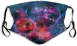 Vindtät aktiverad mask, nebulosas gas himmelsk utvidgning i galax astral planet kosmos föremål rymdtema, ansiktsdekoration...