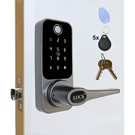 Fingerprint Door Lock Home Keypad Keyless Password Card Digital Electronic Entry