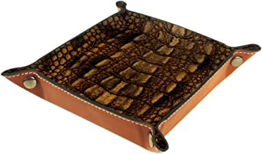Shiiny Crocodile Skin Texture DIY Design Small Storage Box for Storing Small Things Such as Keys and Watches, Can Be Used in