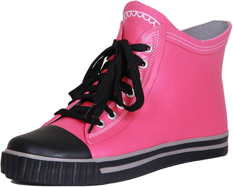 Women's Rain Boots, Women's Flat Boots Rain Boots, Ski Slip Boots, Fashion Water shoes (color   A, Size   37)