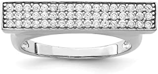 ICE CARATS 925 Sterling Silver Cubic Zirconia Cz Band Ring Size 6.00 Fine Jewelry Ideal Gifts For Women Gift Set From Heart