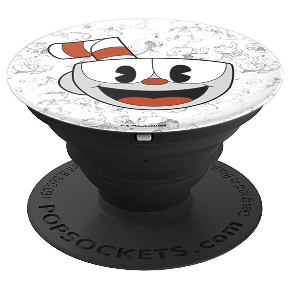 Cuphead Big Smiling Face Character Sketches Video Game - PopSockets Grip and Stand for Phones and Tablets oomevqu91972571