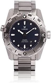 Diver Watches Longio Telamon 1000m Swiss Automatic Pro Diver Watches 47mm Dive Watch with Helium Valve Rotating Bezel Sapphire Stainless Steel Band with Extension Buckle