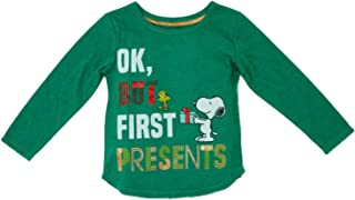 Peanuts Infant & Toddler Girls Woodstock & Snoopy Christmas Holiday Tee Shirt
