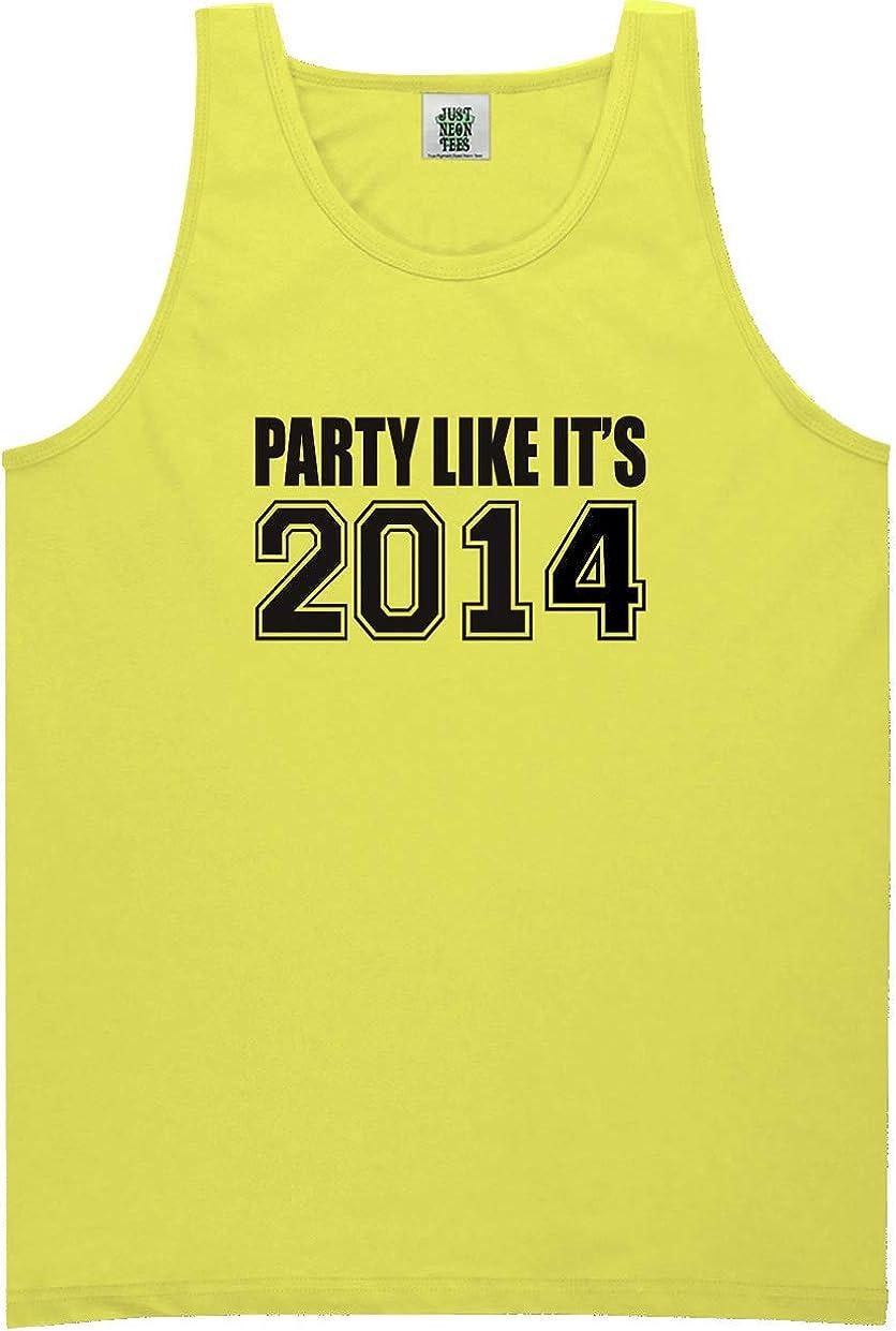 zerogravitee Party Like It's 2014 Bright Neon Tank Top