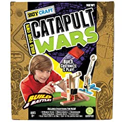 🔨 build & customize: take pride in creating your own catapult and customize it with included Decals and colors. 🎯 aim & fire: once your catapult is built, take aim at your opposing target and fire off mini bean bags to win the War! 💥 group activity: ...