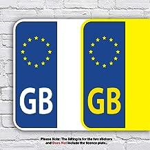 2 x GB Euro Car Van Lorry vinyl Self Adhesive Navy Blue stickers Blue /& Yellow