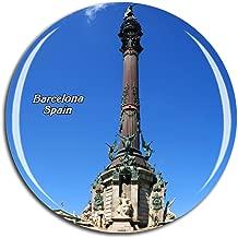 Weekino Spain Columbus Memorial Tower Barcelona Fridge Magnet 3D Crystal Glass Tourist City Travel Souvenir Collection Gift Strong Refrigerator Sticker