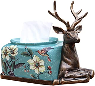 Portonss Deer Tissue Box Resin Home Living Room Coffee Table Decorations Household Cute Elegant Decorative