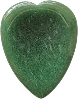 Loveliome Green Aventurine Heart Thumb Worry Stone,Stress Relief Healing Crystals Palm Pocket Stones
