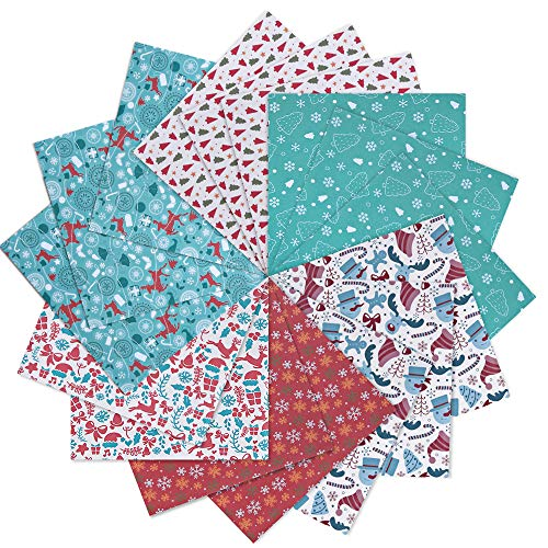 Opret Weihnachts-Origami Papier, 50 Blatt 15 x 15cm Farbiges Bastelpapier für Weihnachten Origami DIY Kunst und Bastelprojekte, 6 Verschiedene Farben